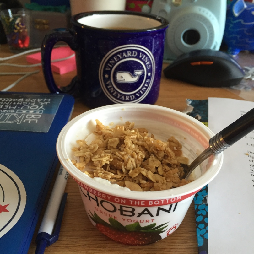 Chobani Yogurt and Granola