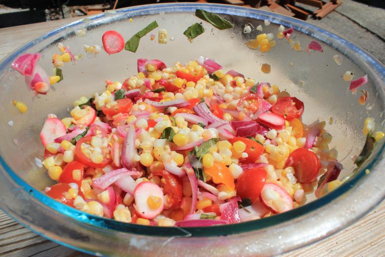 Summer Corn & Veggie Salad - Always Sunkissed